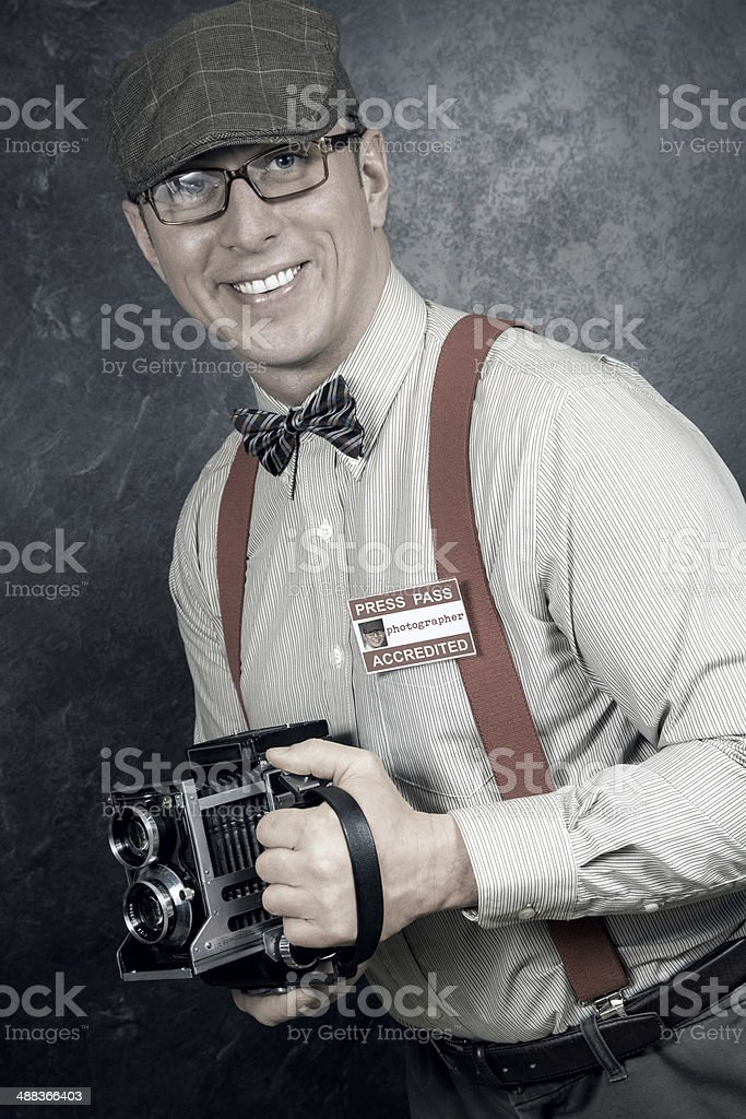 Retro photographer stock photo