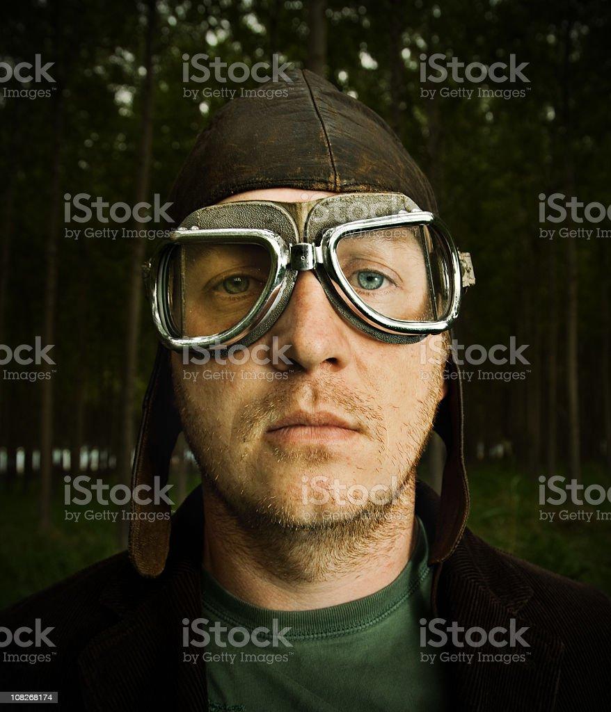 Retro pilot royalty-free stock photo