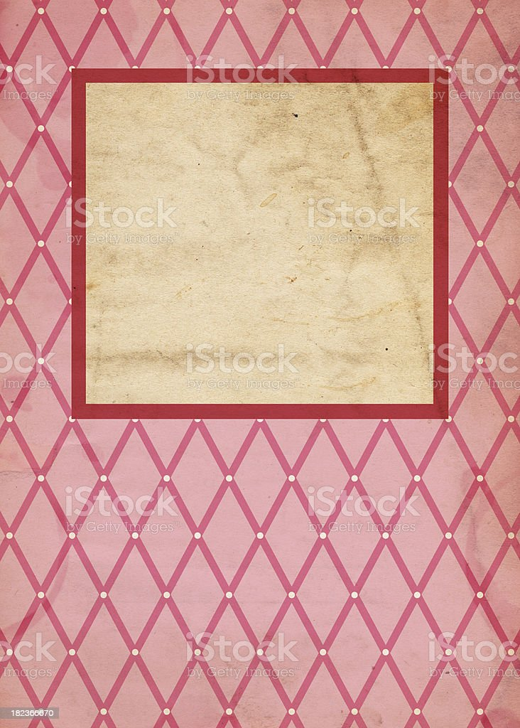 Retro Pink Valentine Background (XXXL) stock photo