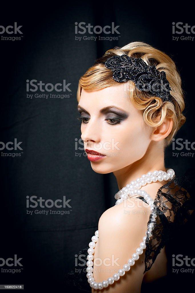 Retro portrait royalty-free stock photo
