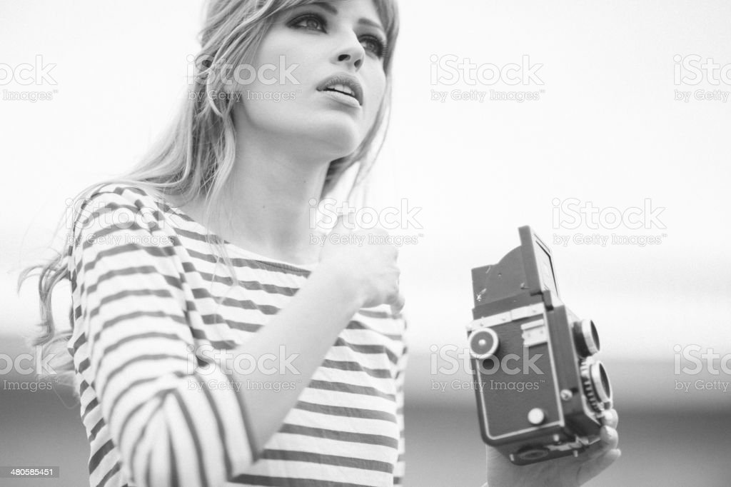 Retro portrait stock photo
