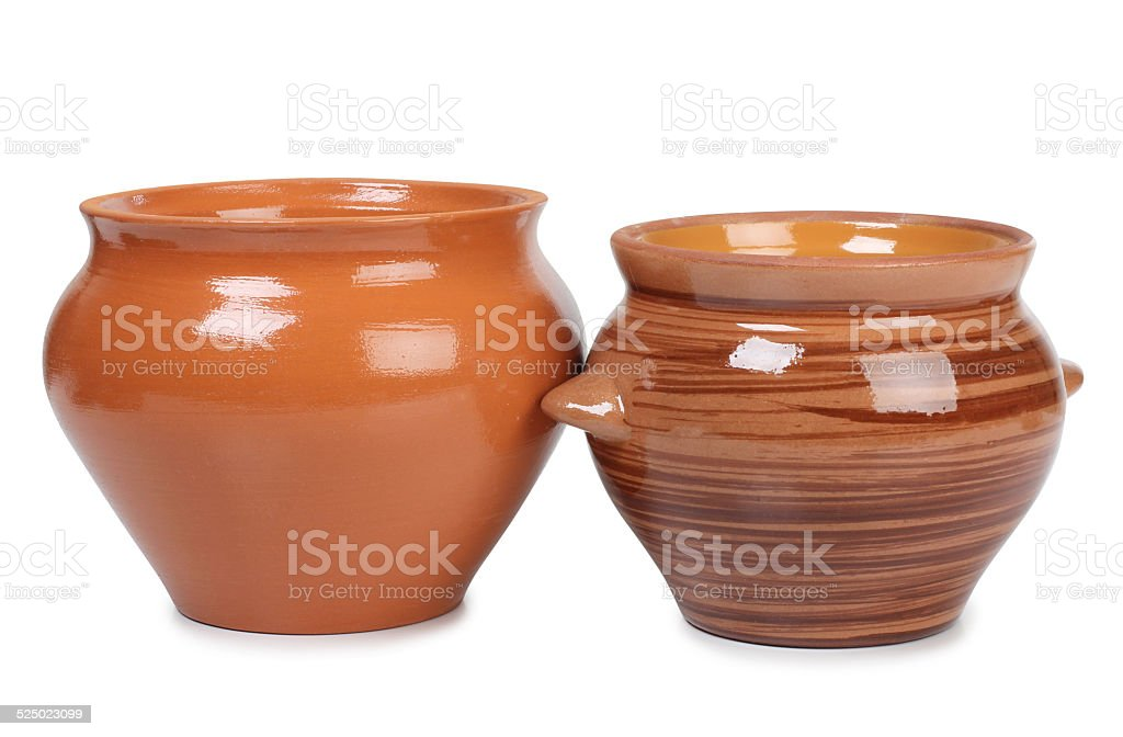 Retro pots stock photo