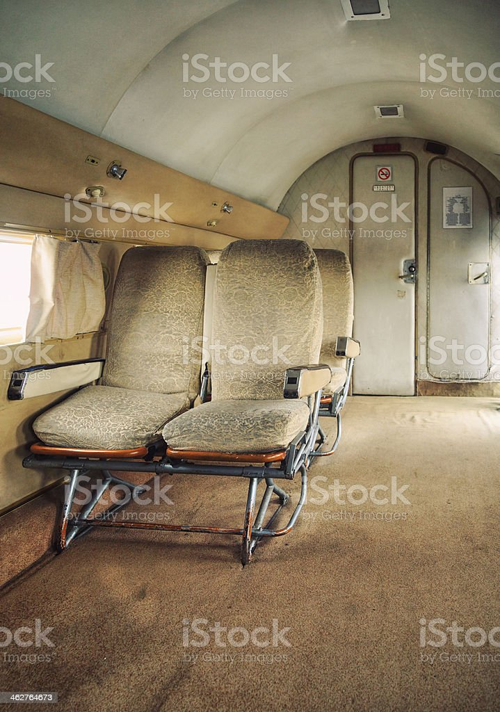 Retro Private Jet stock photo