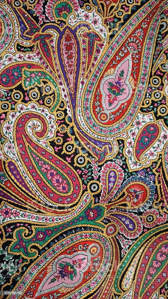 retro psychedelic paisley design stock photo