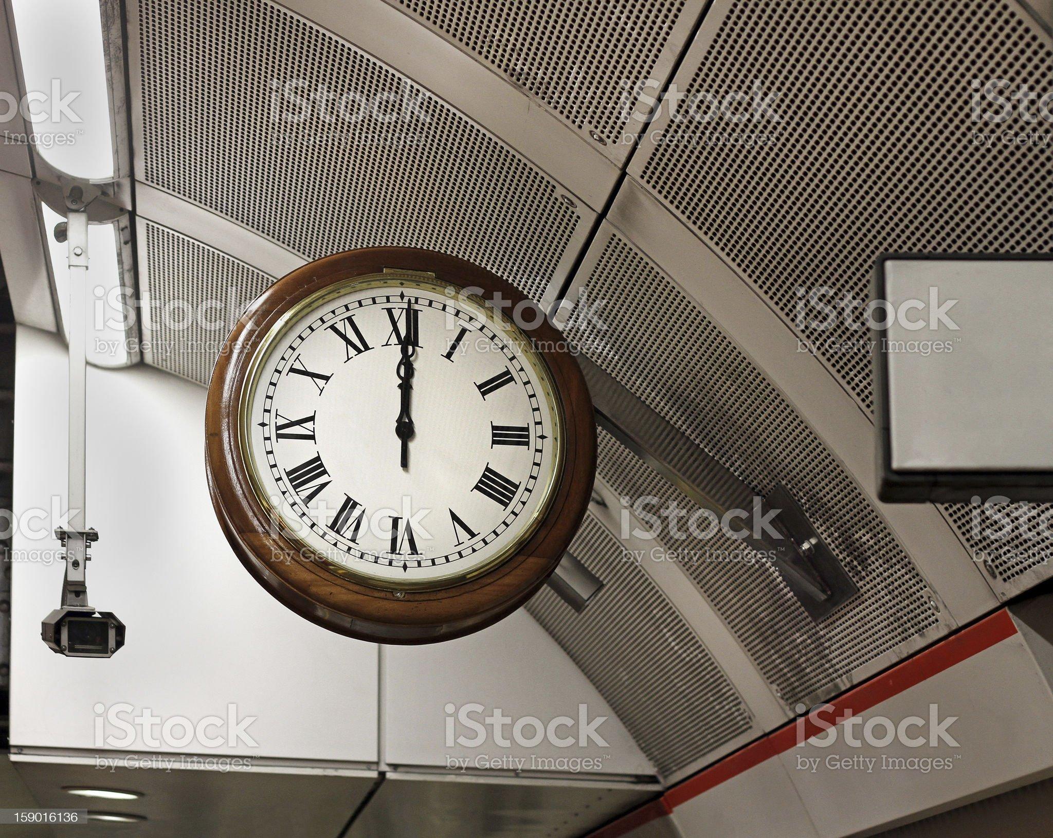 Retro public clock royalty-free stock photo