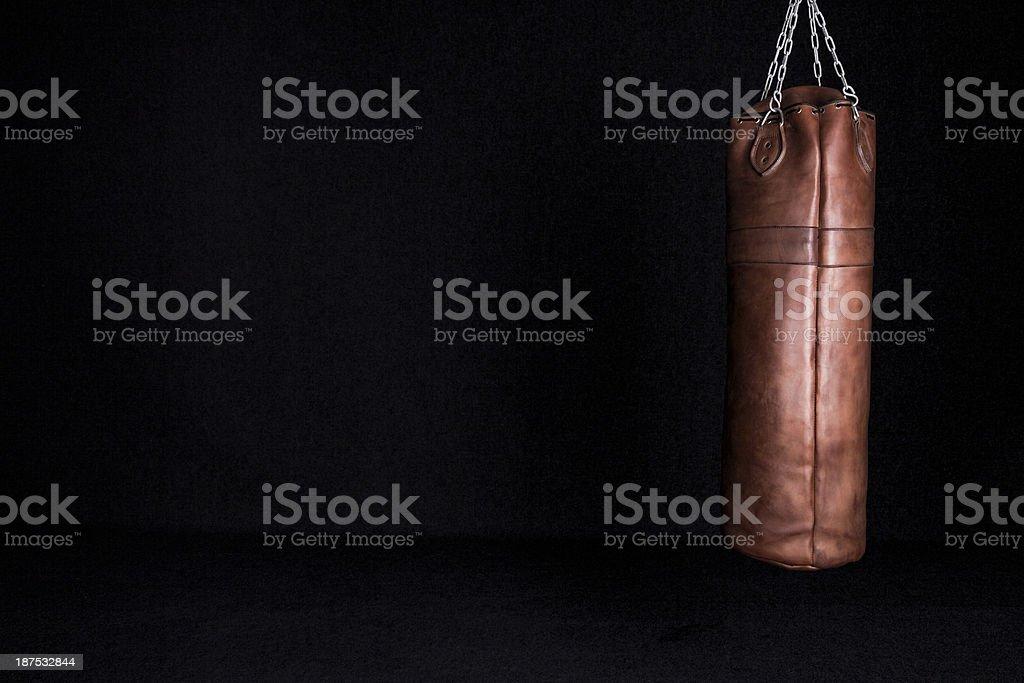 Retro Punching Bag stock photo