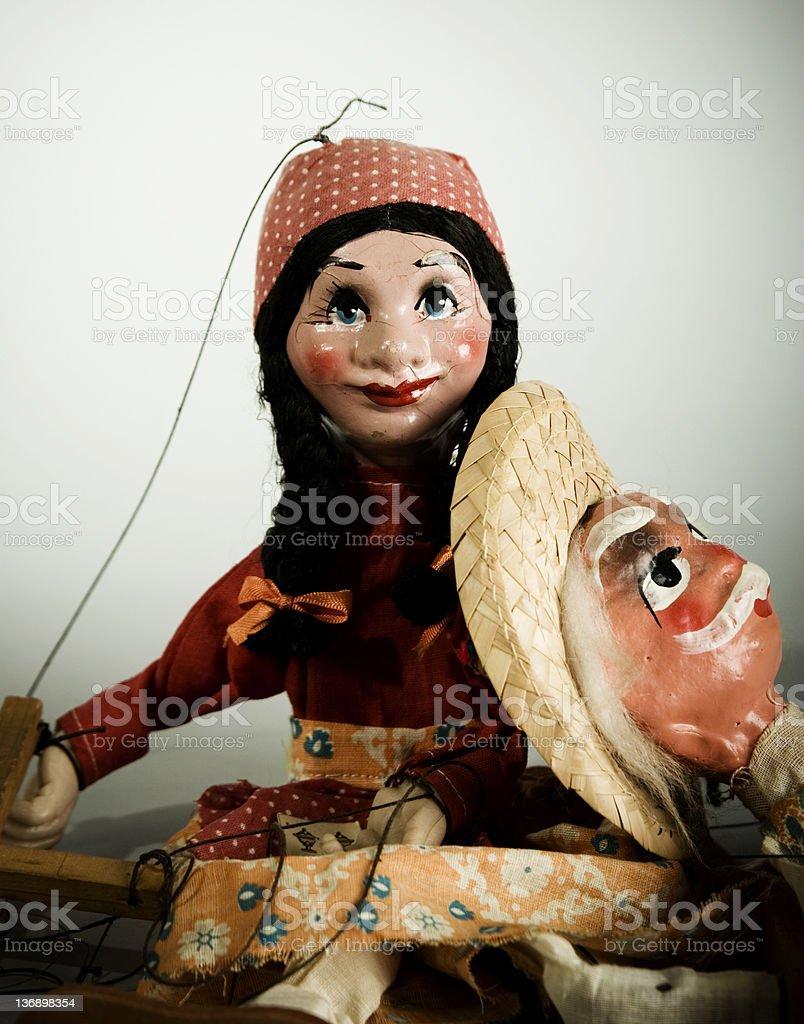 Retro Puppet royalty-free stock photo