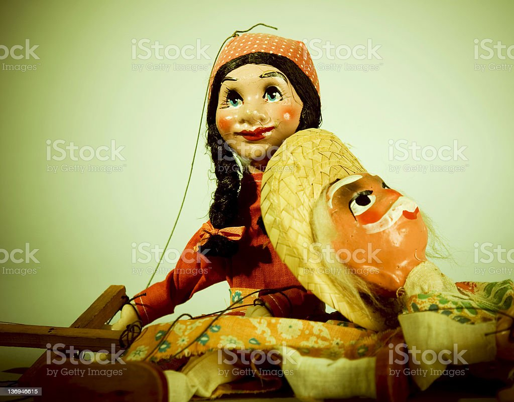 Retro puppet stock photo