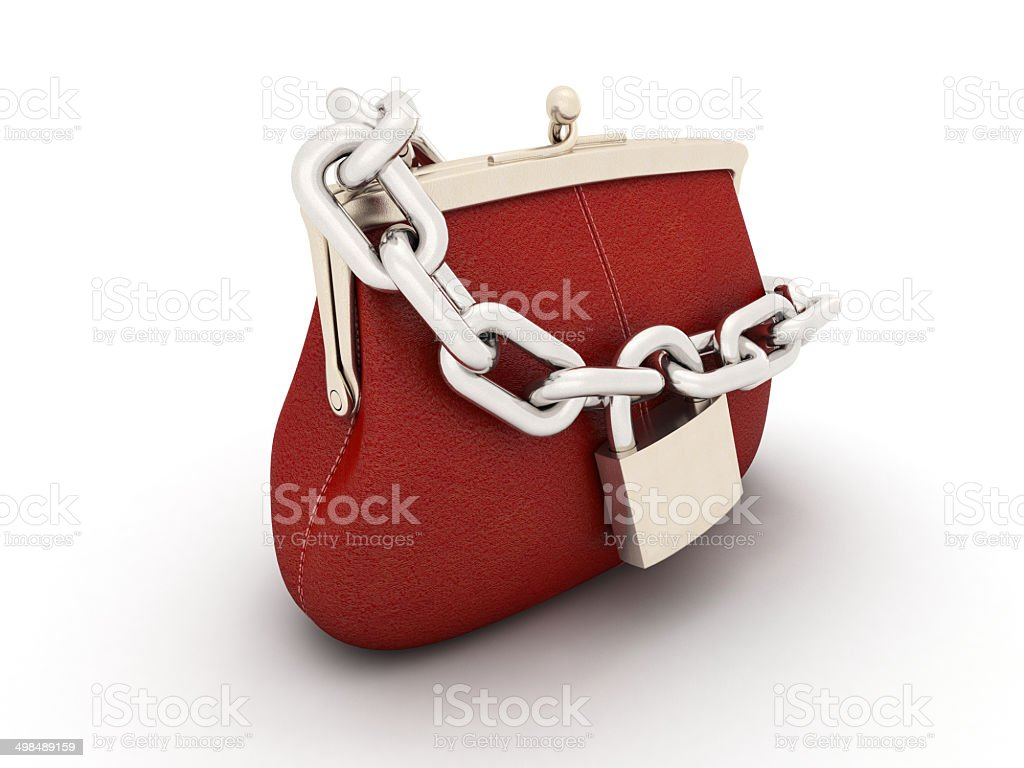 retro purse with a lock royalty-free stock photo