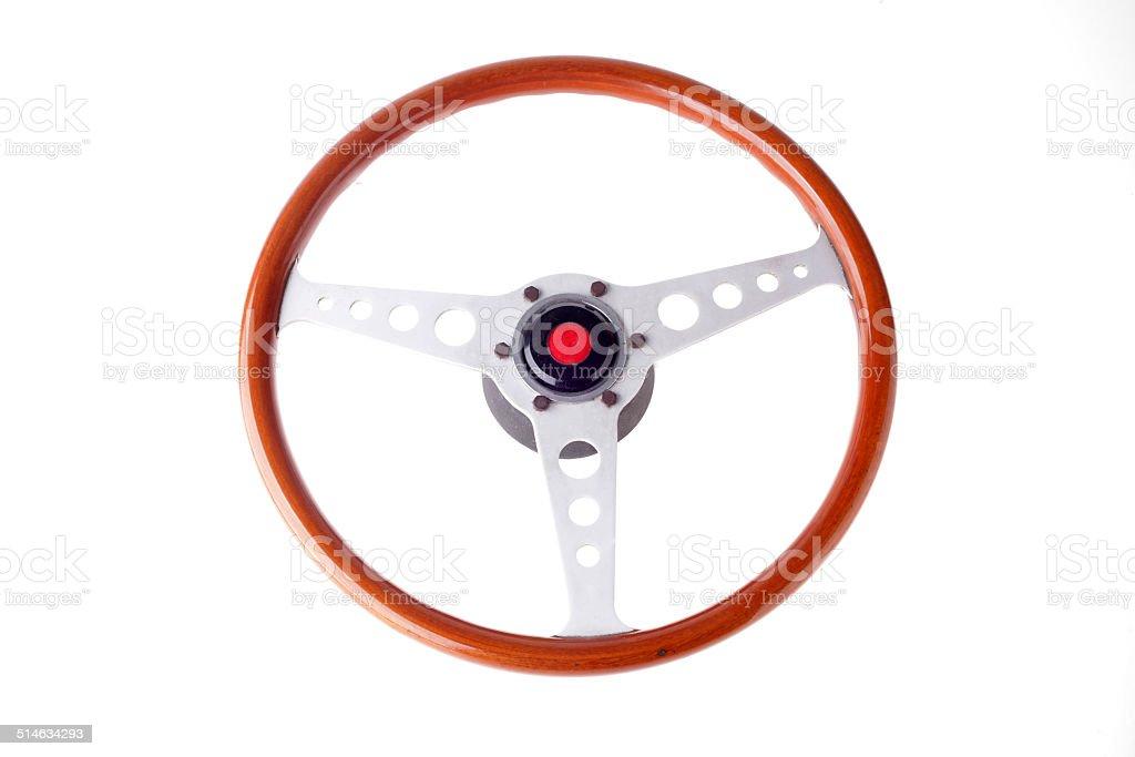 Retro Race Car Steering Wheel stock photo