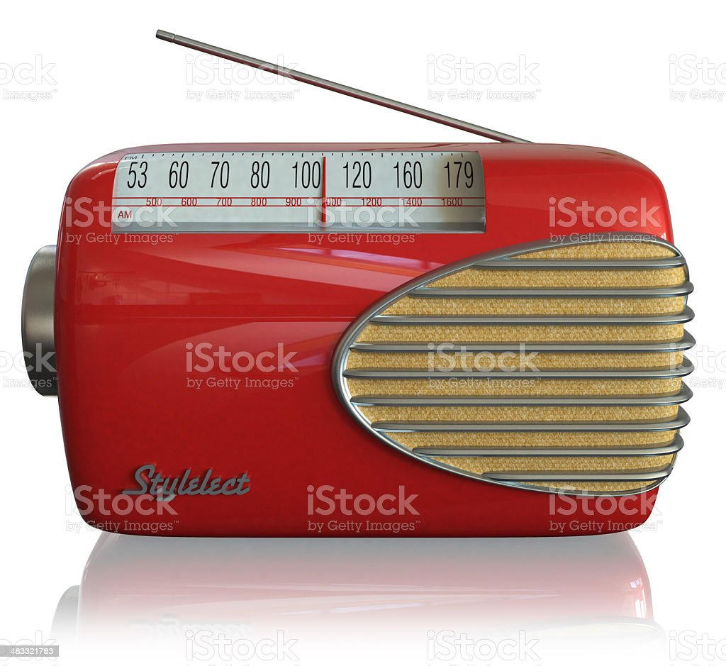 Retro Radio - 3D Render royalty-free stock photo