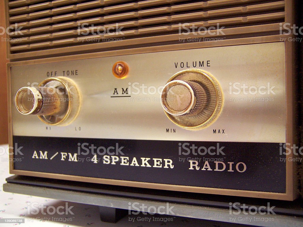 Retro Radio Front stock photo