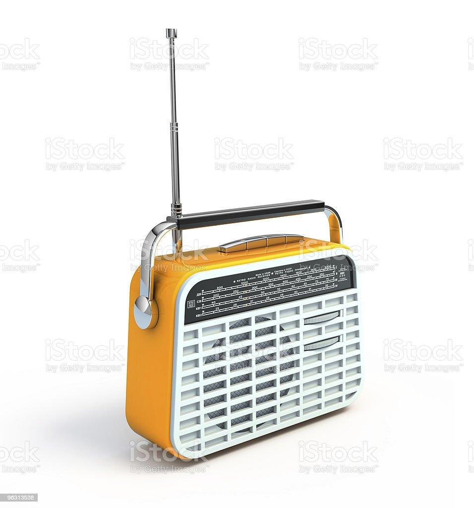 A retro radio on a white background royalty-free stock photo