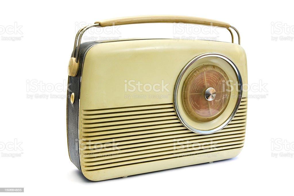 Retro radio over white stock photo