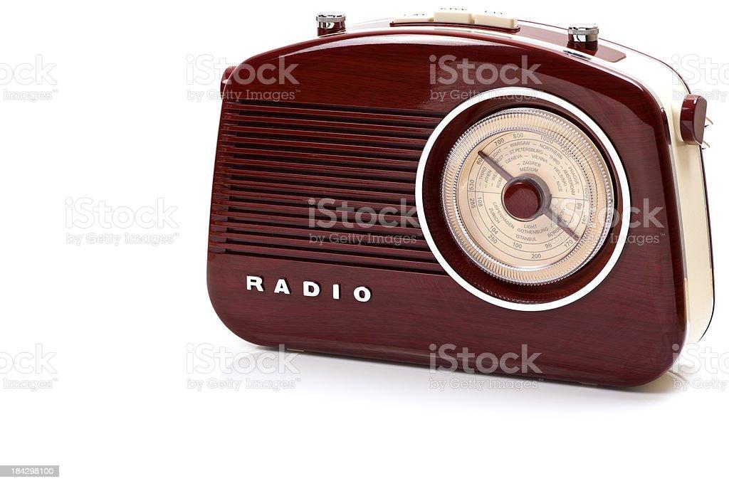 Retro Radio Set, Studio Isolated stock photo