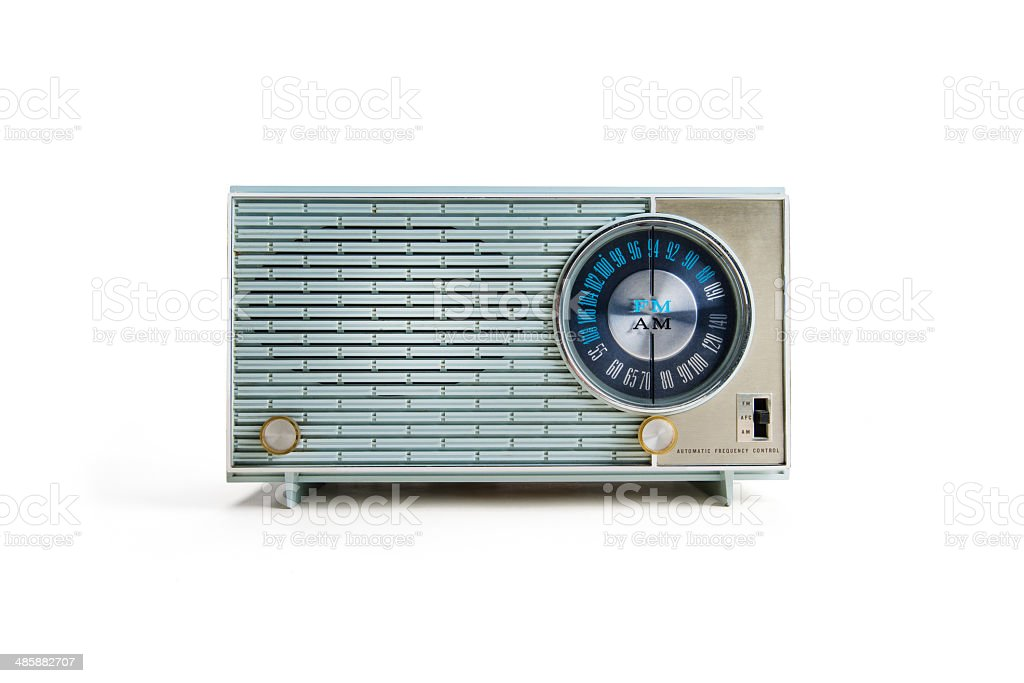 Retro Radio With clipping Path stock photo