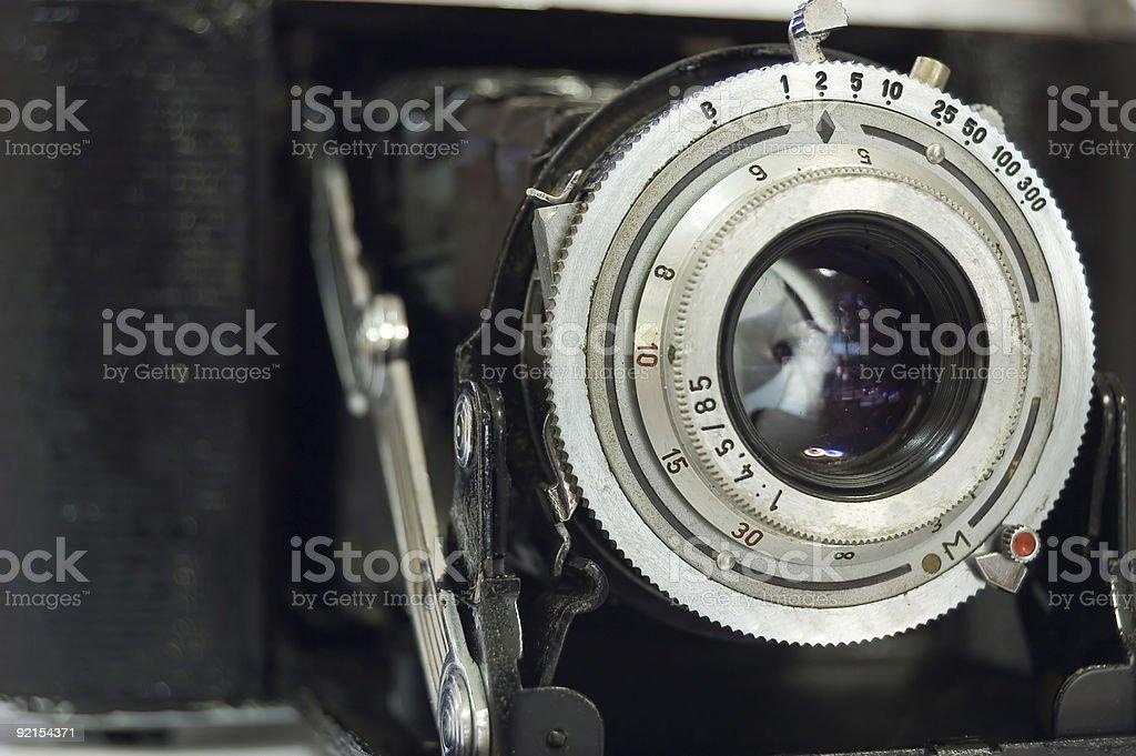 Retro Rangefinder Camera stock photo