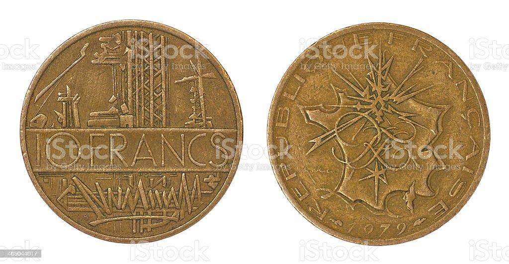 retro rare coin of france royalty-free stock photo