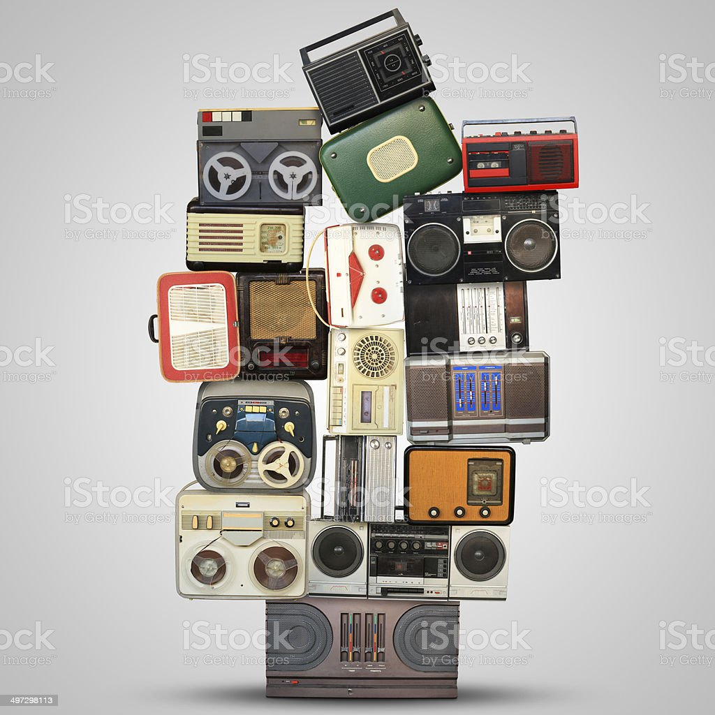Retro recorder royalty-free stock photo
