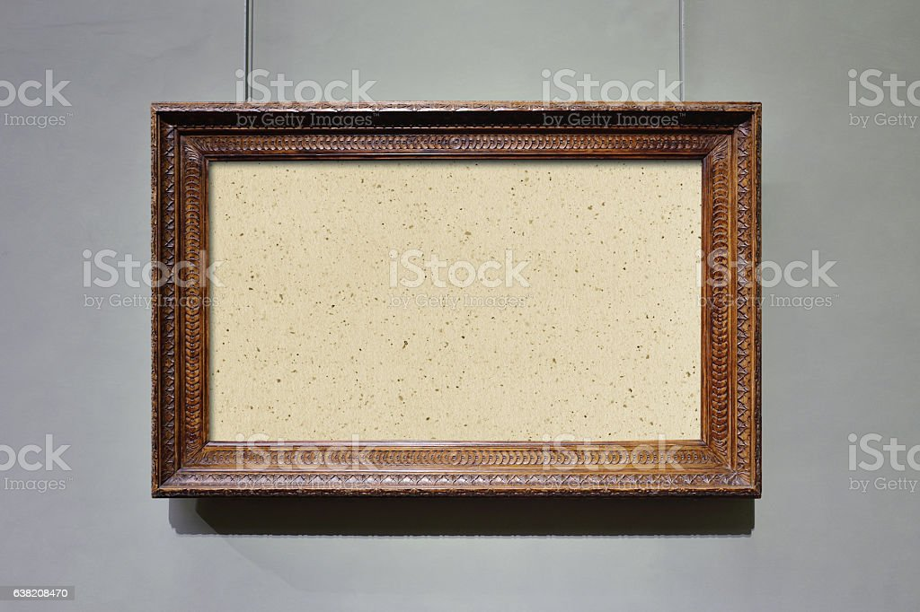Retro Rectangle Picture Frame stock photo