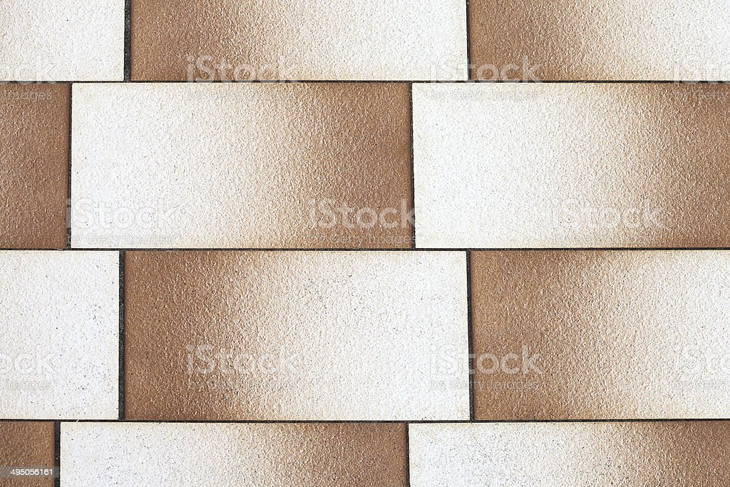 Retro Rectangular Tiles with Graduated Fade from Brown to White stock photo
