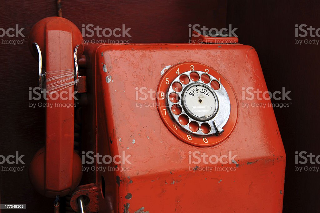 retro red telephone royalty-free stock photo