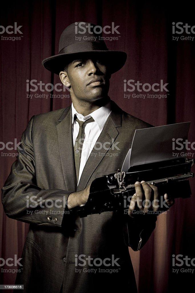retro reporter royalty-free stock photo