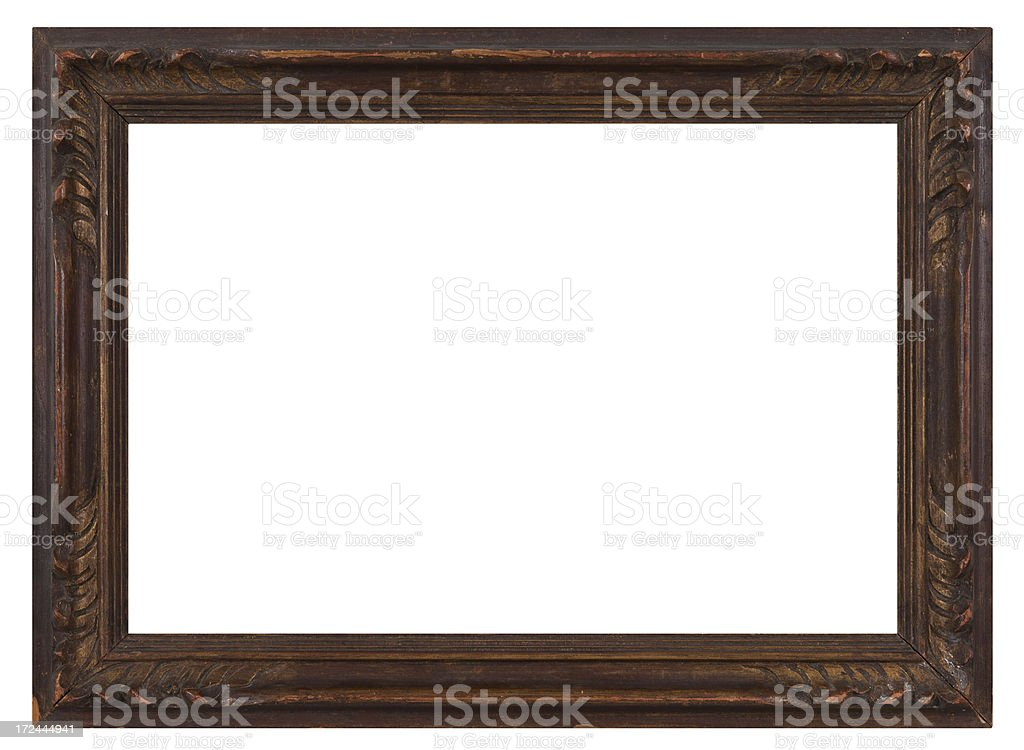 Retro Revival Old Gold Frame royalty-free stock photo