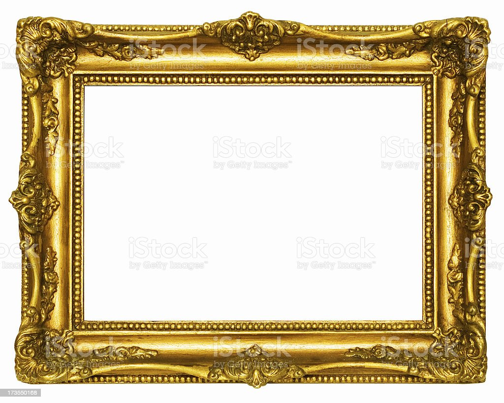 Retro Revival Old Gold Frame stock photo