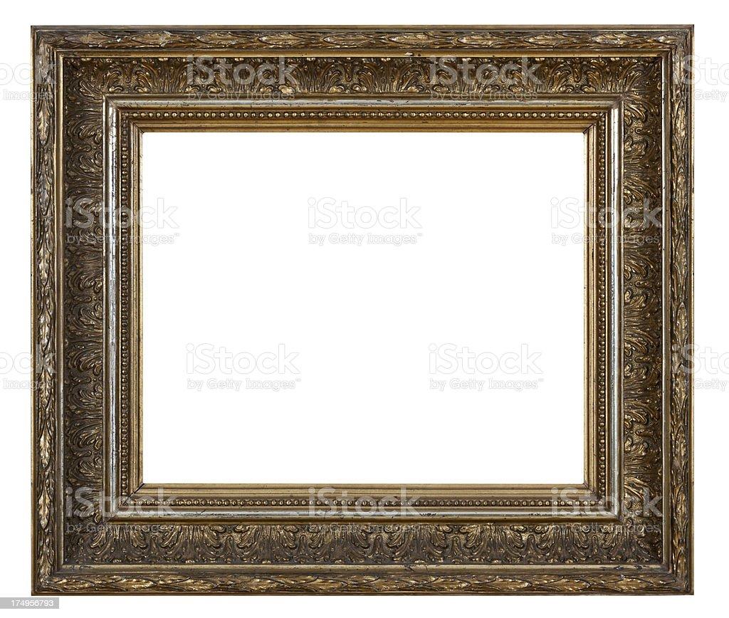 Retro Revival Old  Gold Frame stock photo