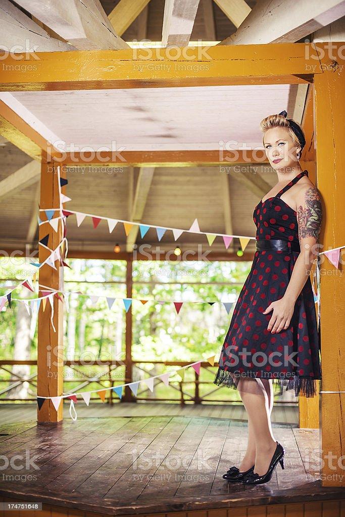 Retro Rockabilly Woman royalty-free stock photo