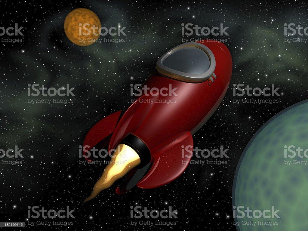 Retro Rocket royalty-free stock photo