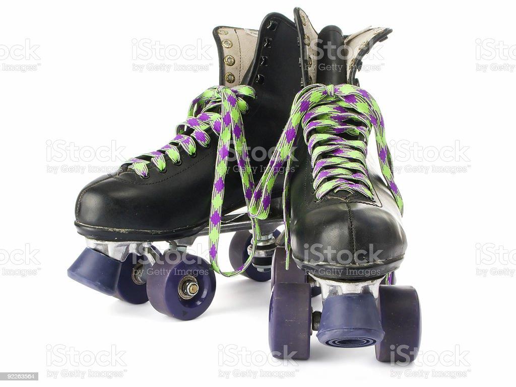 Retro roller skates royalty-free stock photo