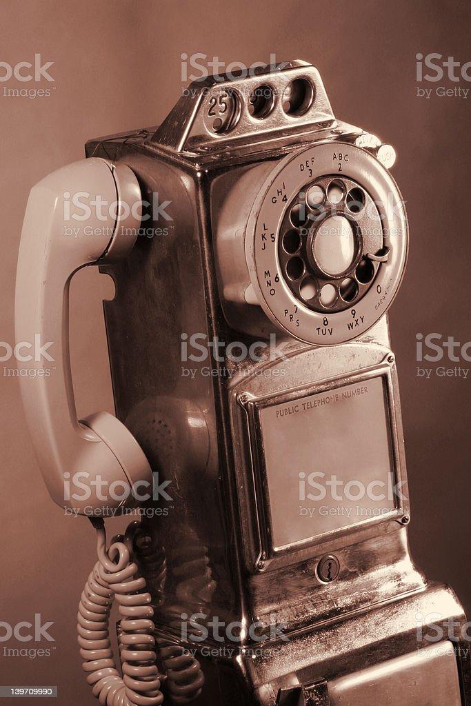Retro Rotary Payphone royalty-free stock photo