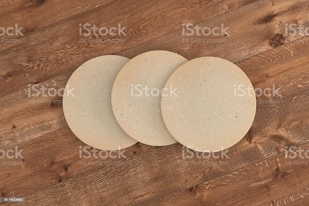 Retro round coasters. stock photo