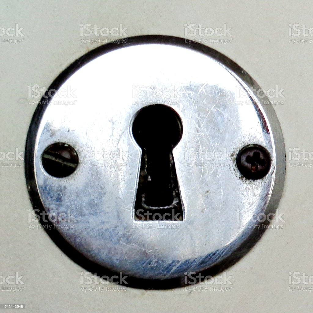 Retro Round Lock stock photo