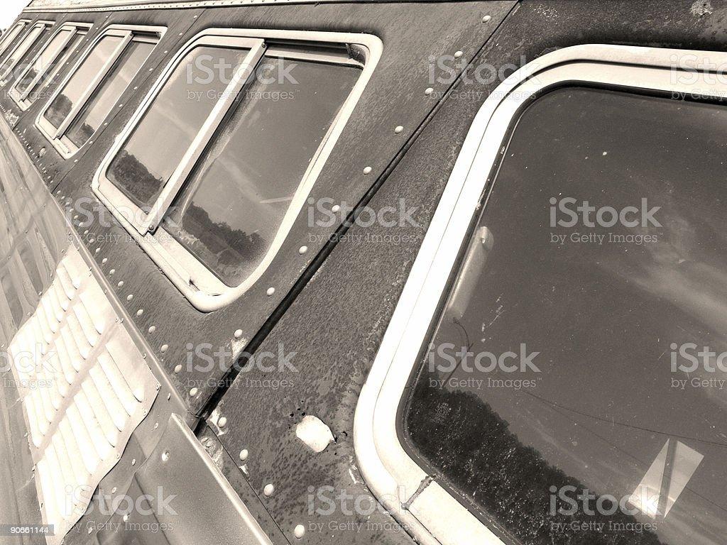 retro rv windows royalty-free stock photo