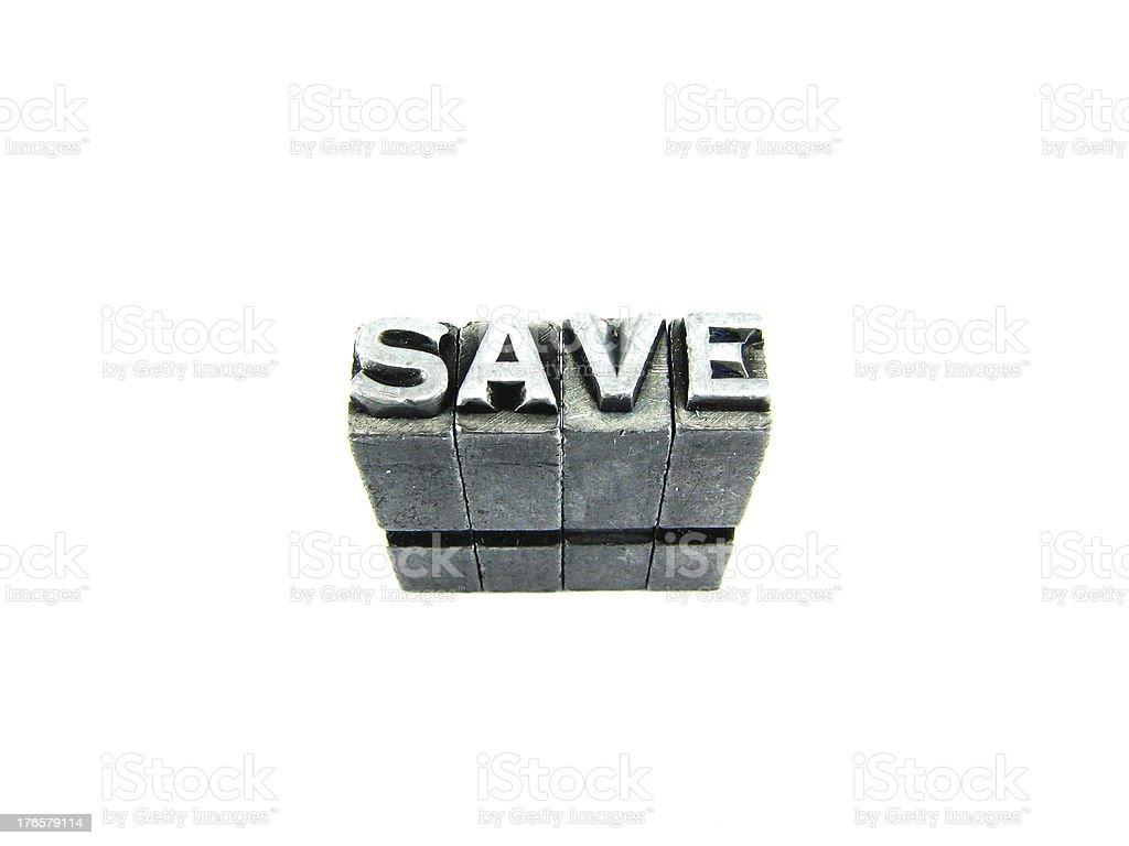 Retro Save sign. royalty-free stock photo