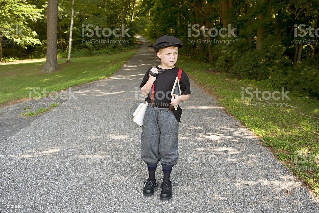 Retro School Boy stock photo