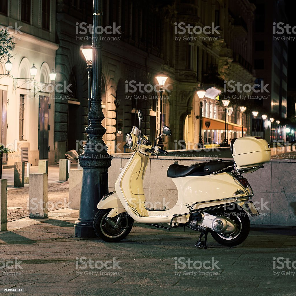 Retro Scooter royalty-free stock photo