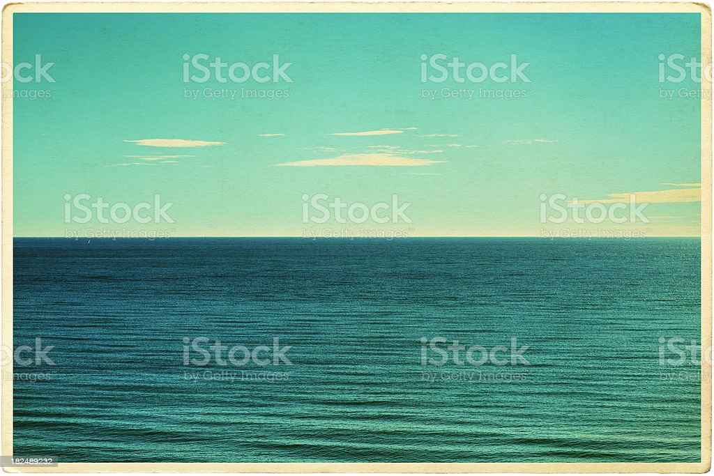 Retro Seascape Postcard royalty-free stock photo