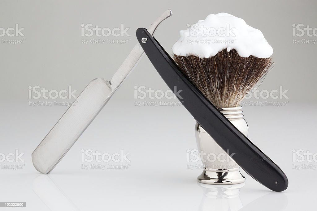 retro shaving kit royalty-free stock photo