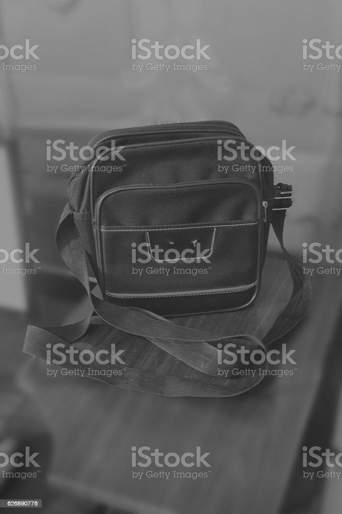 Retro Shoulder Men Bag stock photo