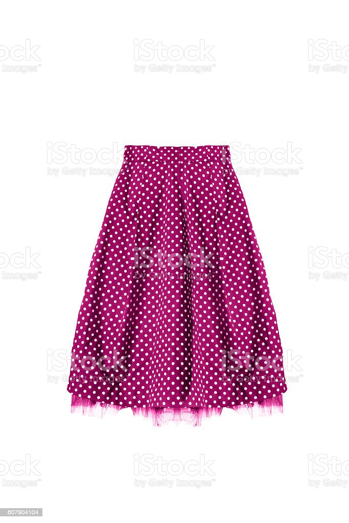 Retro skirt isolated stock photo