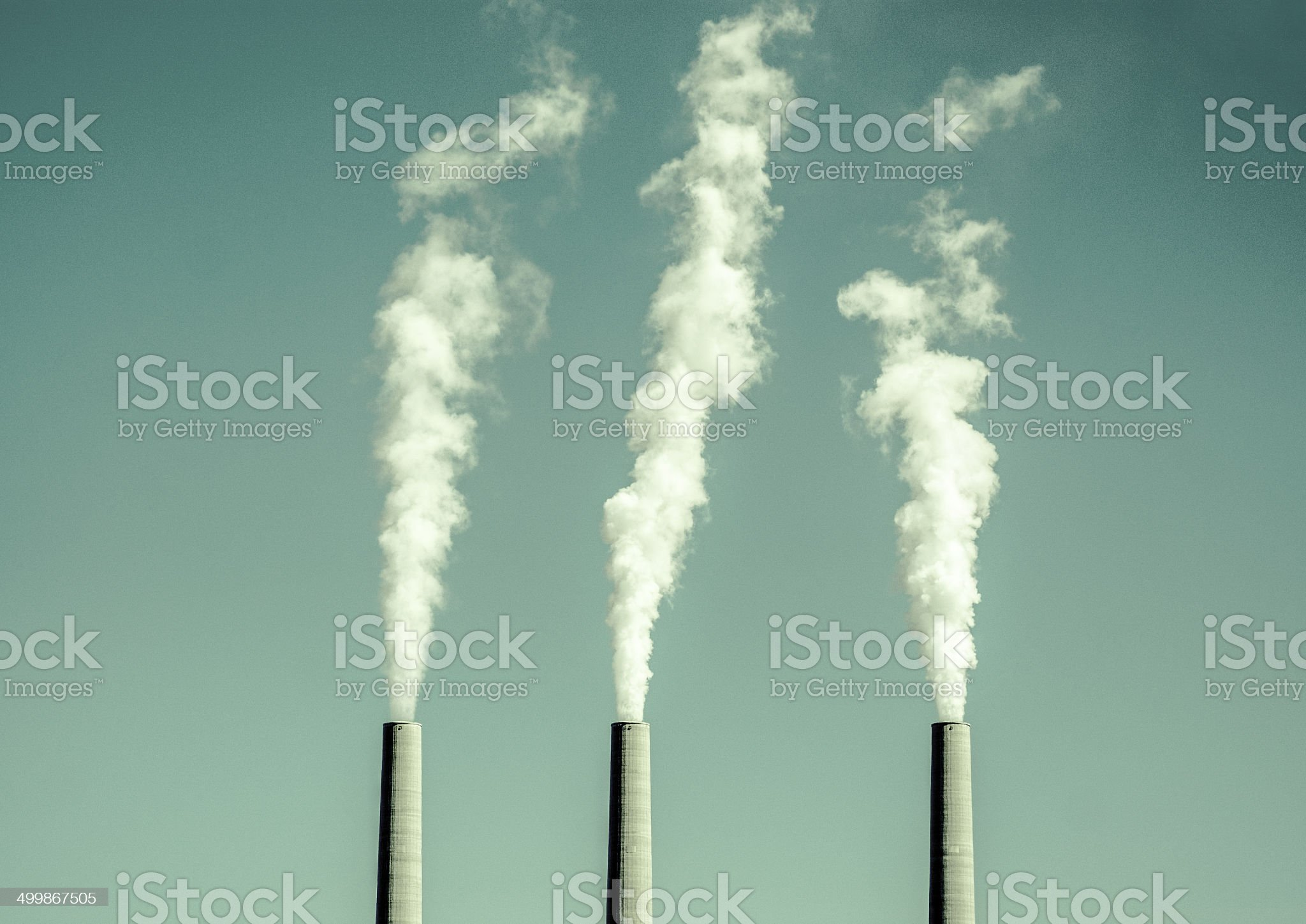 retro smoke stack sky royalty-free stock photo