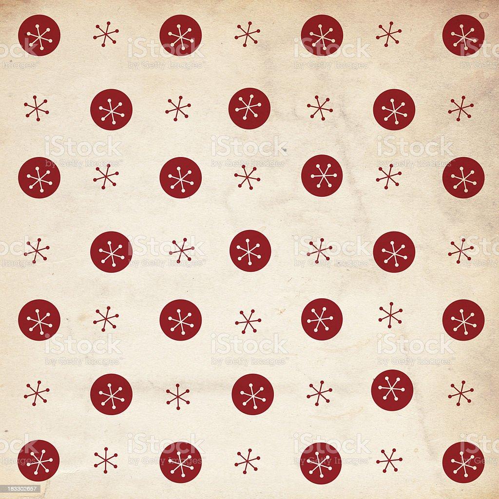 Retro Snowflake Paper - XXXL royalty-free stock photo