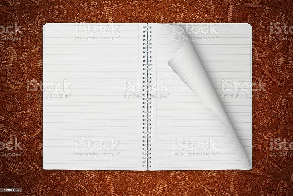 Retro Spiral Notebook royalty-free stock photo