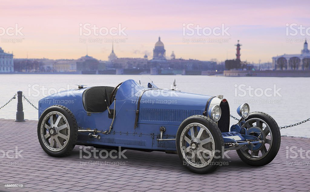 Retro Sport Car stock photo