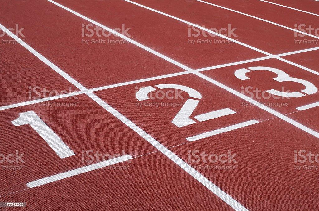 Retro sport running track royalty-free stock photo
