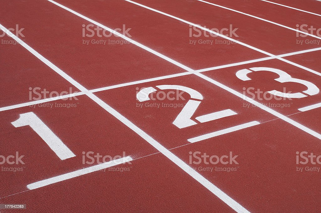 Retro sport running track stock photo